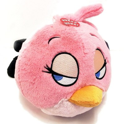 """Commonwealth Toys Angry Birds 8"""" Talking Plush: Pink Bird"""