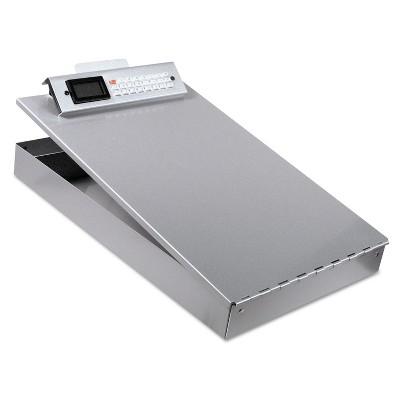 """Saunders Redi-Rite Aluminum Storage Clipboard 1"""" Clip Cap 8 1/2 x 12 Sheets Silver 11025"""