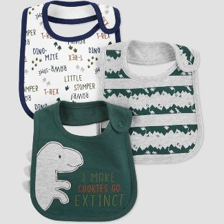 Baby Boys Dino Bib - Just One You® made by carters OSZ Green