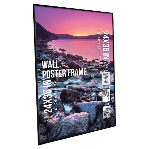 Poster Frame Thin Profile Black 24x36 Room Essentials