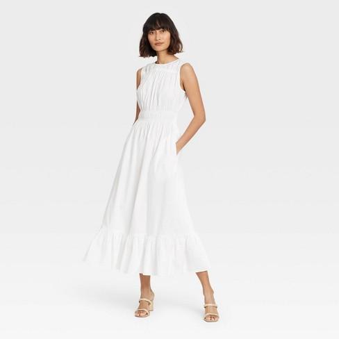 Women's Sleeveless Smocked Waist Dress - A New Day™ - image 1 of 3