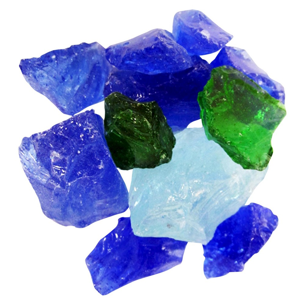 AZ Patio Heaters Recycled Fire Pit Fire Glass - Sapphire (Blue)