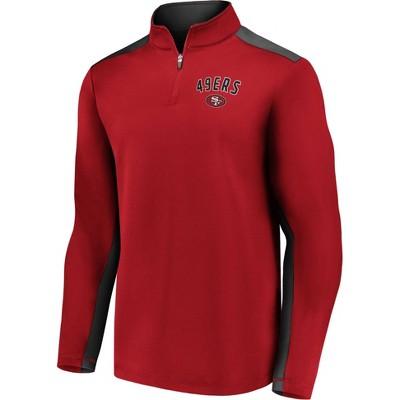 NFL San Francisco 49ers Men's 1/4 Zip Fleece Sweatshirt