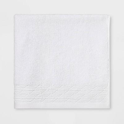 Diamond Band Terry Bath Towel White - Threshold™