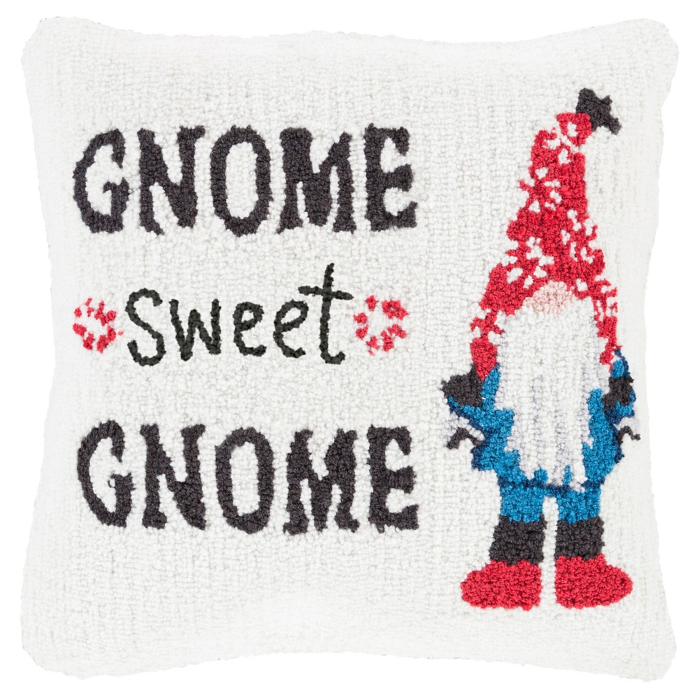 White Gnome Throw Pillow 18