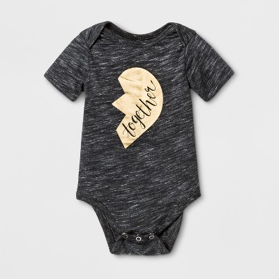 Baby Short Sleeve Together Graphic Bodysuit - Cat & Jack™ Black 3-6M