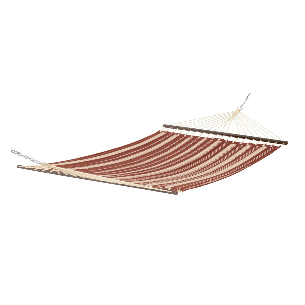 Fadesafe Quilted Hammock - Heather Henna Red Stripe - Classic Accessories Montlake