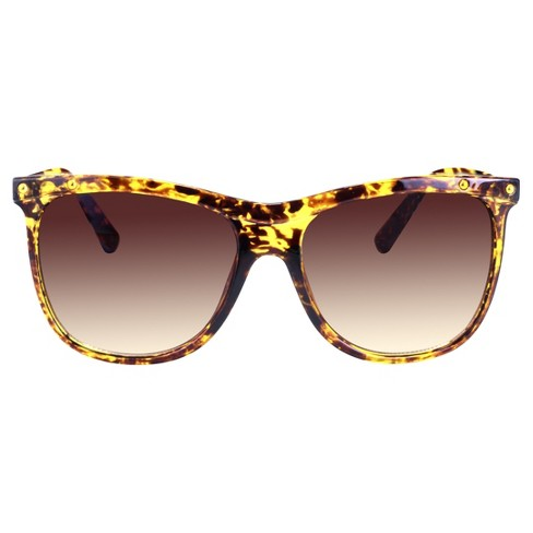 7b0d6c538c6 Women s Oversized Rectangle Sunglasses With Brown Gradient Lens - Brown    Target