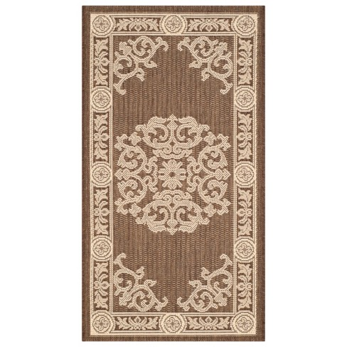 Outdoor Rug - Chocolate / Natural - Safavieh® - image 1 of 3