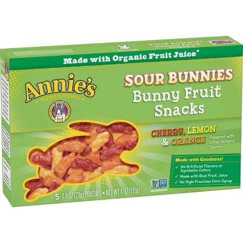 Annie's Sour Bunnies Fruit Snacks - 5ct - image 1 of 3