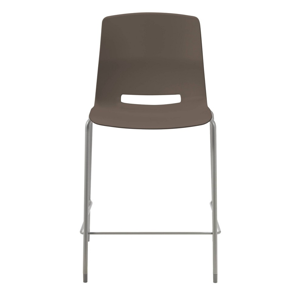 25 Lola Stacking Office Counter Stool Stone Brown - Olio Designs