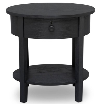 Delta Children Farmhouse Nightstand - Textured Midnight Gray