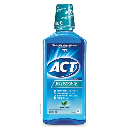 Act Cool Mint Restoring Fluoride Rinse - 33oz - image 1 of 4