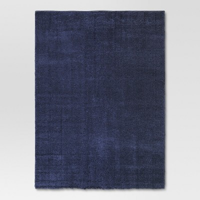 5'X7' Solid Tufted Micropoly Shag Area Rug Navy - Project 62™