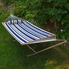 12 Foot Fabric Hammock with Steel Frame and Matching Pillow - image 3 of 4