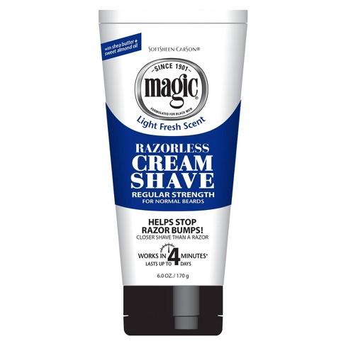 Magic Razorless Cream Shave Hair Removal Depilatory Regular Strength for Normal Beards - 6oz - image 1 of 4