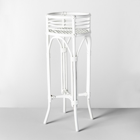 "30.2"" x 12"" Rattan Planter Stand White - Opalhouse™ - image 1 of 2"