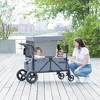 Jeep Wrangler Stroller Wagon with Included Car Seat Adapter by Delta Children - Gray - image 2 of 4