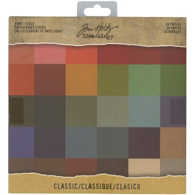 "Idea-Ology Single-Sided Kraft Cardstock Pad 8""X8"" 36/Pkg-Classic, 36 Colors/1 Each"