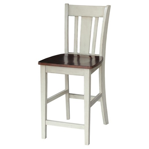 "Armless 24"" Counter Stool - Antiqued Almond/Espresso- International Concepts - image 1 of 2"