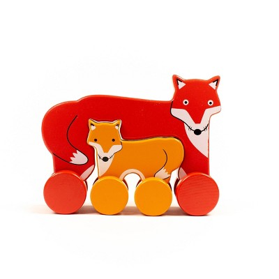 Big and Little Fox Push Toy