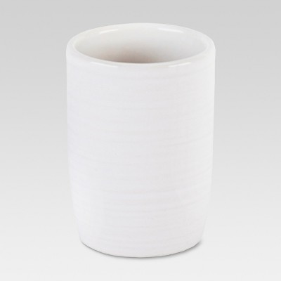 Ribbed Ceramic Tumbler White - Threshold™