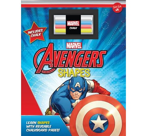 Marvel's Avengers Chalkboard Shapes : Learn Shapes With Reusable Chalkboard Pages! (Hardcover) - image 1 of 1