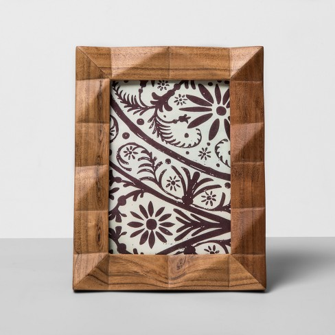 "5"" x 7"" Faceted Wood Single Image Frame Off White - Opalhouse™ - image 1 of 4"
