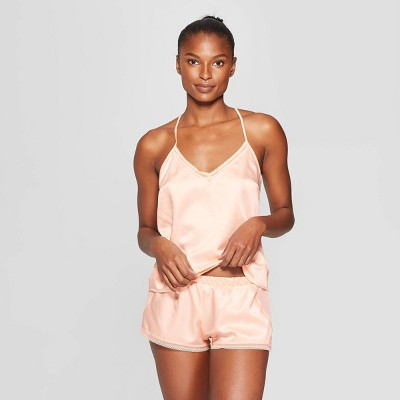 Women's Cami and Pajama Set - Auden™ Honeysuckle Peach L