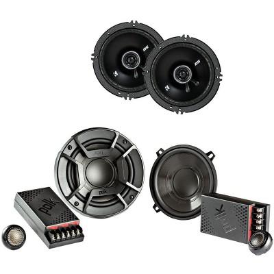 "Polk Audio 5.25"" 300 Watt 2 Way + Kicker 6.5"" 240 Watt 2-Way Car Audio Speakers"