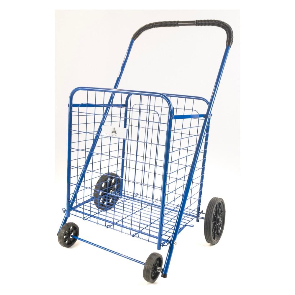 ATHome 39X19.5 X5  Shopping Cart Blue ATHome 39X19.5 X5  Shopping Cart Blue