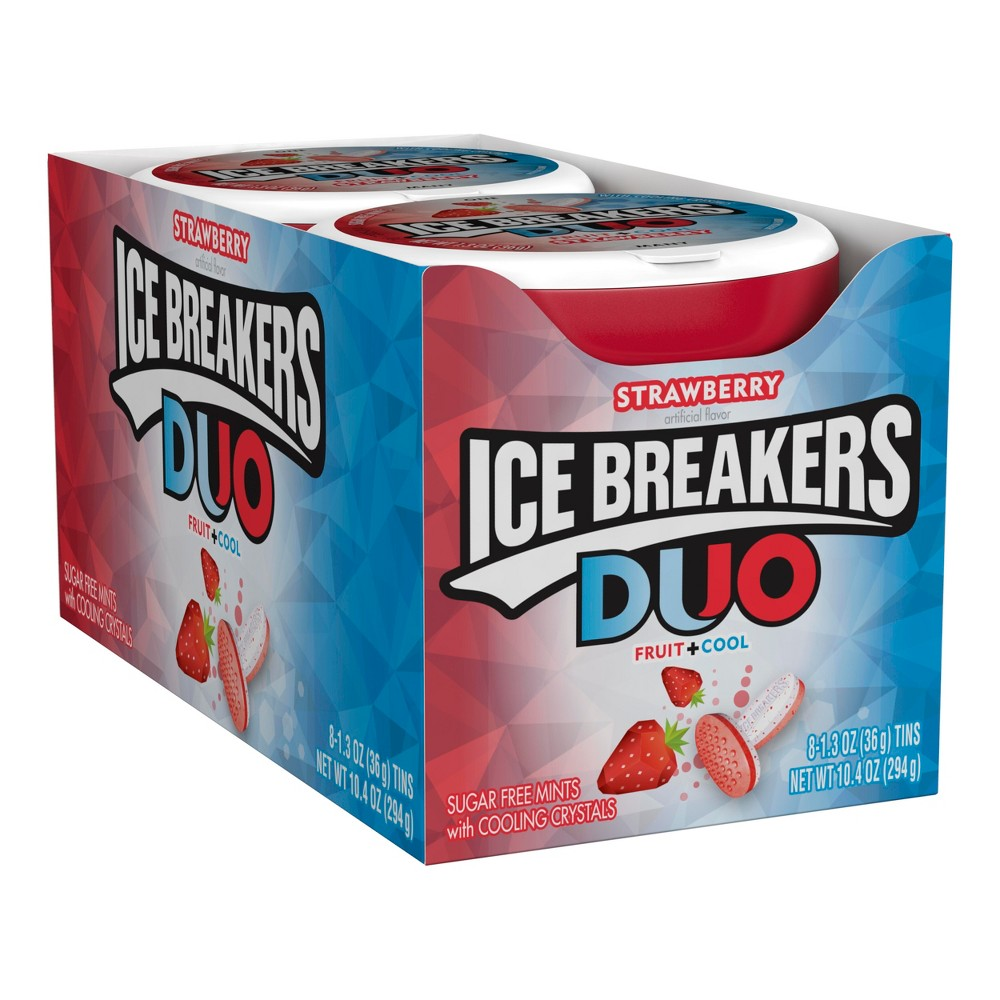 Ice Breakers Strawberry Fruit Cool Duo - 1.23oz - 8ct