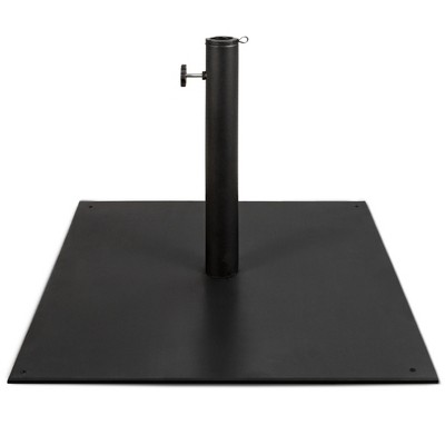 Best Choice Products 38.5lb Steel Umbrella Base, Square Patio Stand w/ Tightening Knob and Anchor Holes - Black