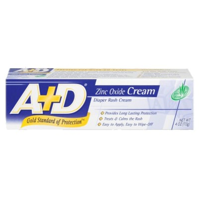 A+D Zinc Oxide Diaper Rash Cream - 4oz