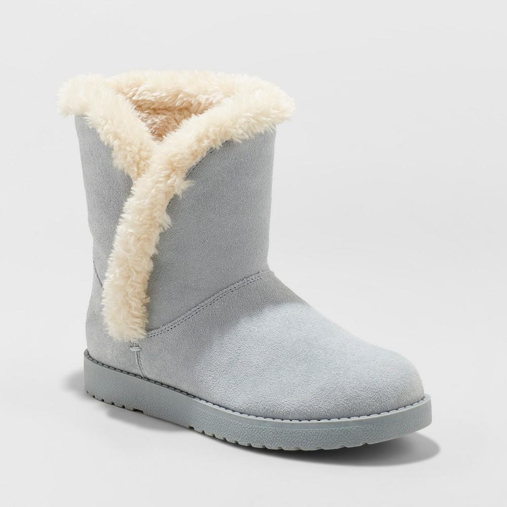 Women's Daniah Wide Width Suede Winter Boots - Universal Thread Blue 7W, Size: 7 Wide
