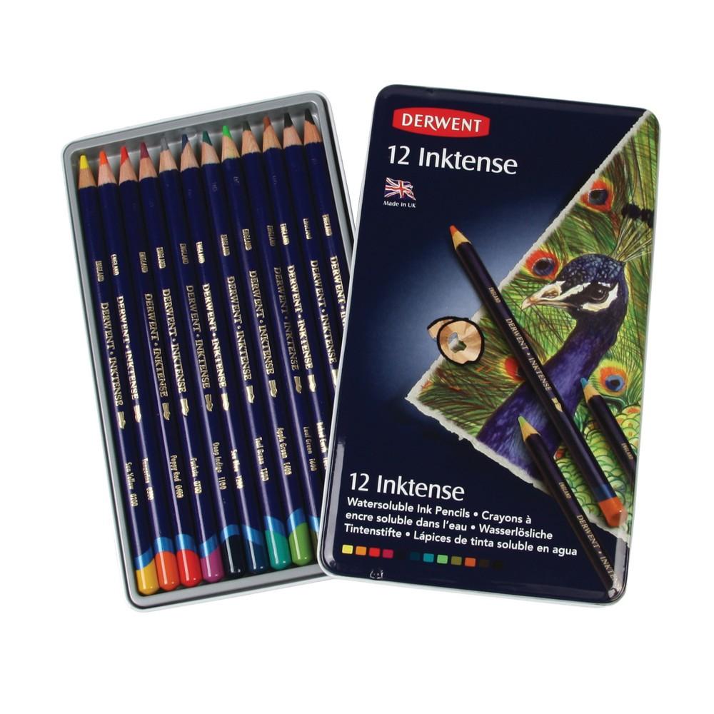 Inktense Pencil Set 12ct - Derwent, Multi-Colored