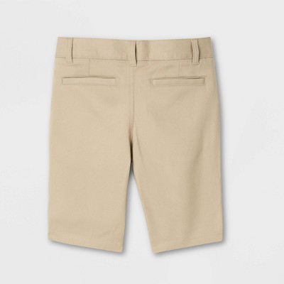 French Toast Young Womans' Uniform Chino Shorts - Khaki