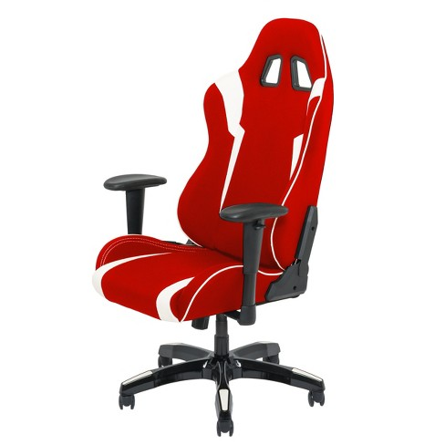 Adjustable High Back Ergonomic Gaming Chair Redwhite Corliving