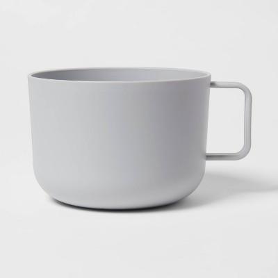 30oz Plastic Soup Mug Gray - Room Essentials™