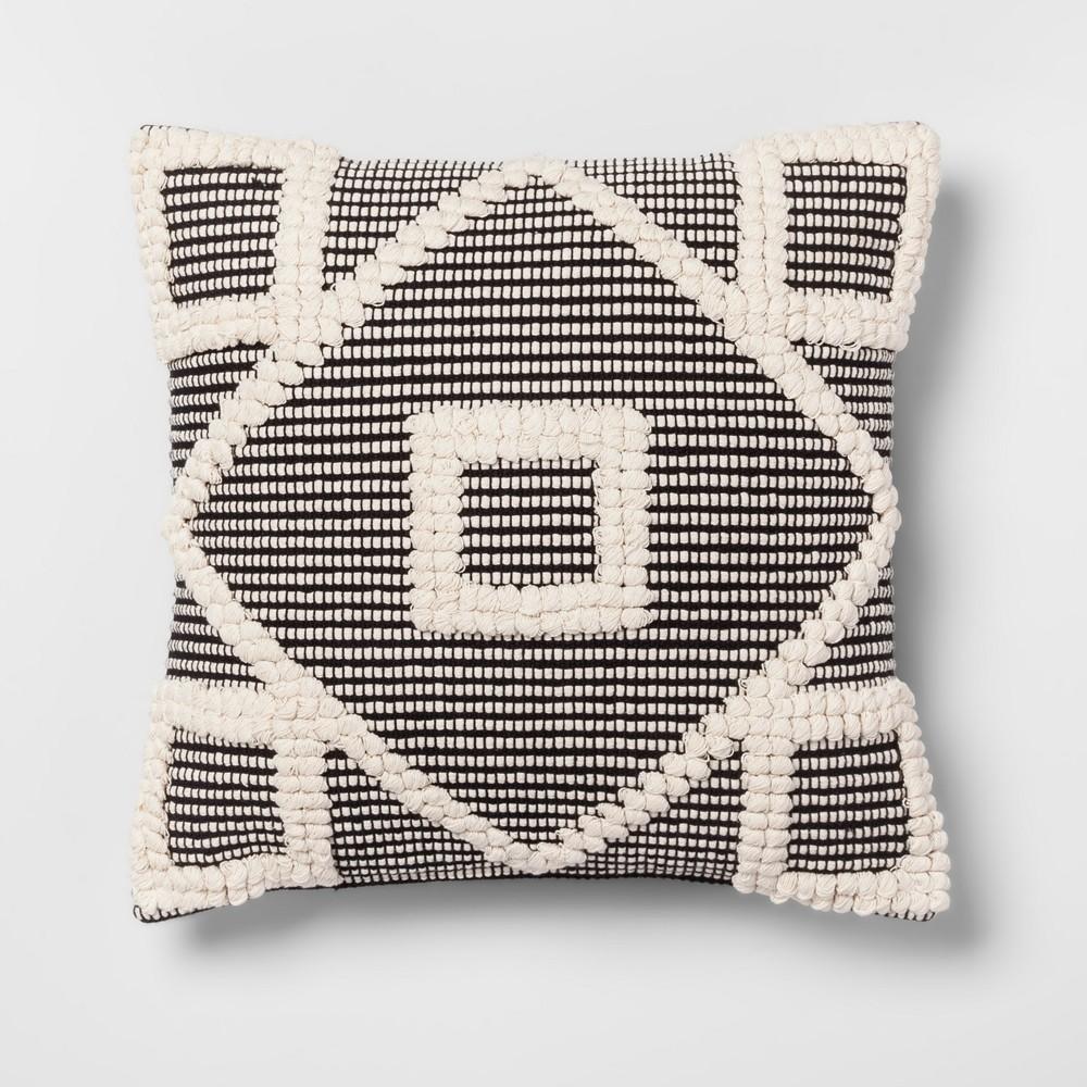 Diamond Throw Pillow Black - Opalhouse