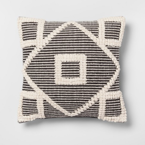 Square Diamond Pillow Black/Cream - Opalhouse™