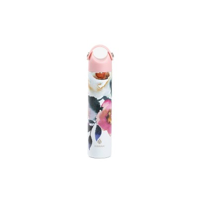 Manna 10oz Stainless Steel Floral Hydration Bottle