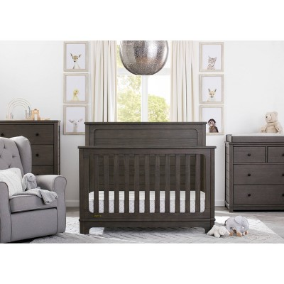 Simmons Kids Slumbertime Monterey 4-in-1 Convertible Crib - Rustic Gray