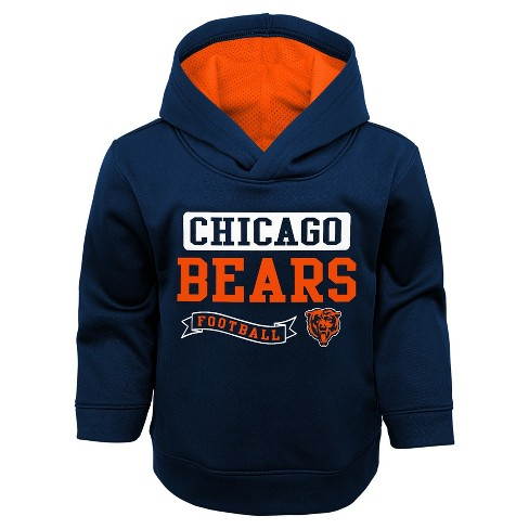 ce8d7cd2 Chicago Bears Toddler Boys' Mesh Lined Hood Pullover Hoodie Sweatshirt 2T