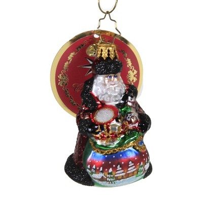 """Christopher Radko 3.0"""" Delightful Delivery Gem Ornament Russian Christmas  -  Tree Ornaments"""