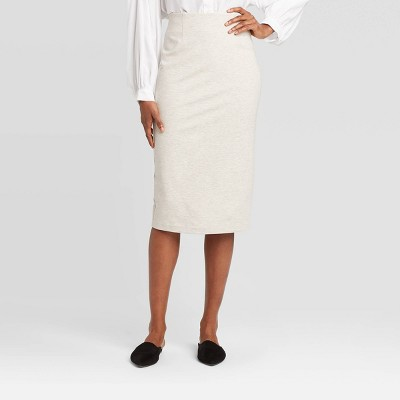 Women's High-Rise Midi A-Line Skirt - Prologue™ Cream