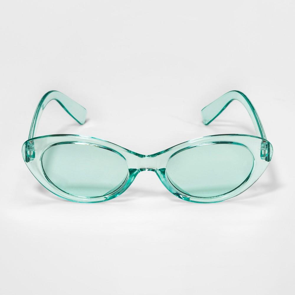 Image of Girls' Cat Eye Accessory Glasses - Cat & Jack Turquoise One Size
