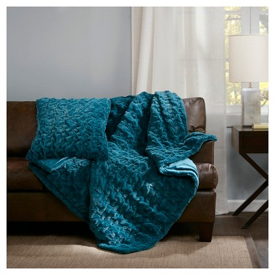 Ruched Faux Fur Pillow & Throw Collection