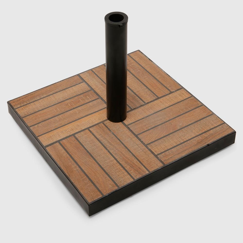Tile Umbrella Base Wood - Threshold, Brown