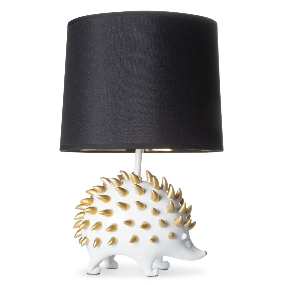 Image of Hedgehog Table Lamp White Lamp Only - J. Hunt, Black Yellow White